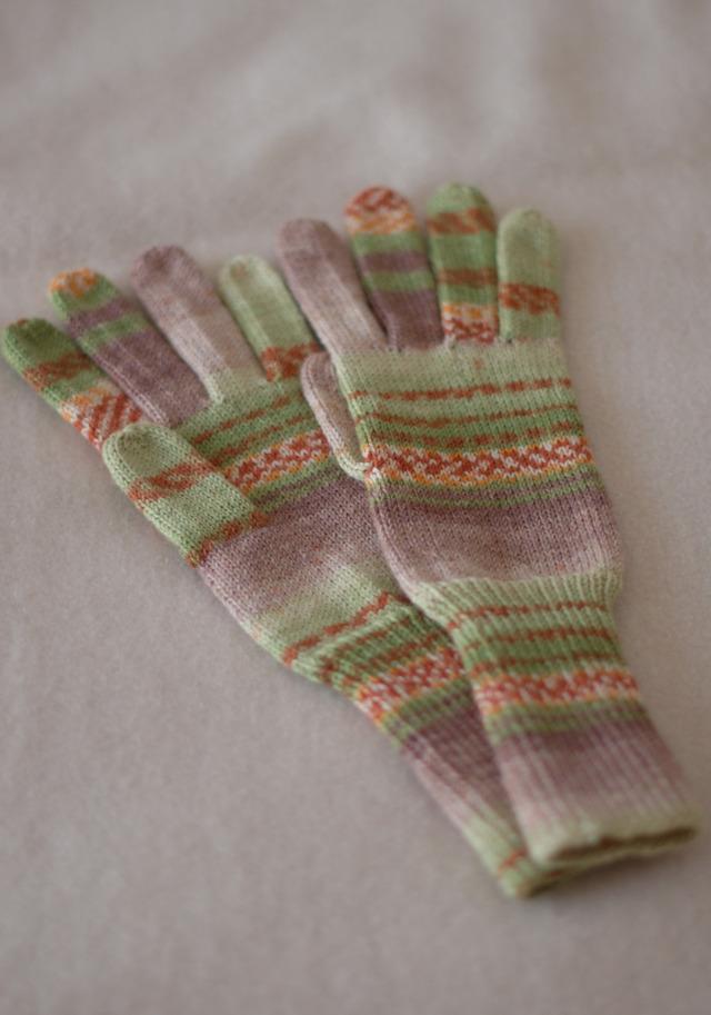 手編み5本指手袋 No.5