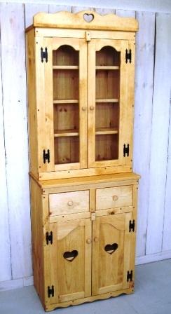 カントリー家具の食器棚W 65ミディアム