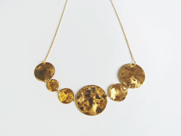 (再販)真鍮の丸を連ねたネックレス