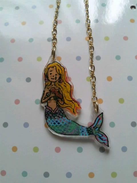 送料無料 人魚姫のペンダント