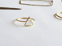 triangle ring k18