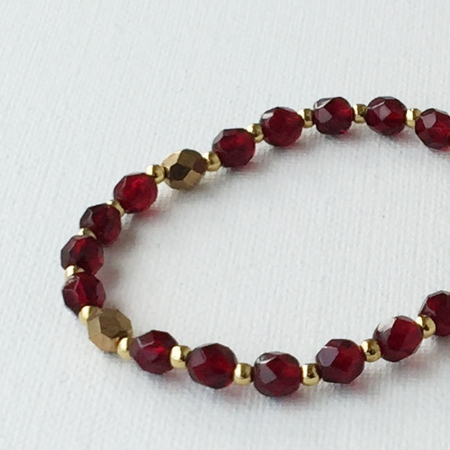 Autumn color Bracelet 秋色のブレスレット gold