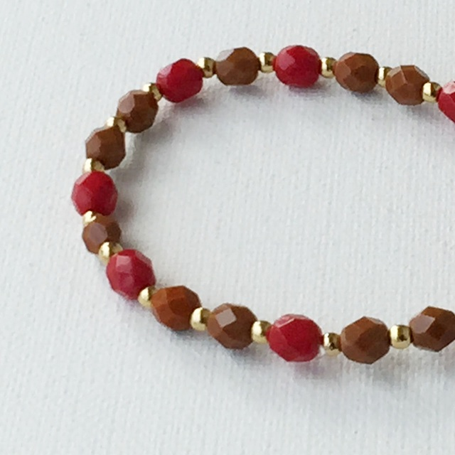 Autumn color Bracelet 秋色のブレスレット Brown