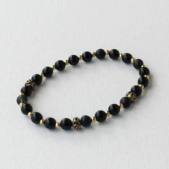 Autumn color Bracelet 秋色のブレスレット Black