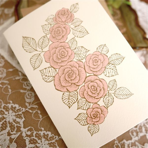 �ȤȤäƤ����Υ����ɡɡ�SILKSCREEN PRINTED CARD -ROSE-