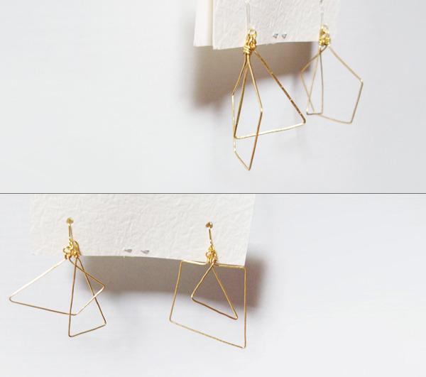 (再販)4つの多角形ワイヤーピアス