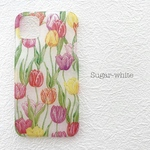 iPhone ケース ❤︎  Tulip 〜 Repeating pattern