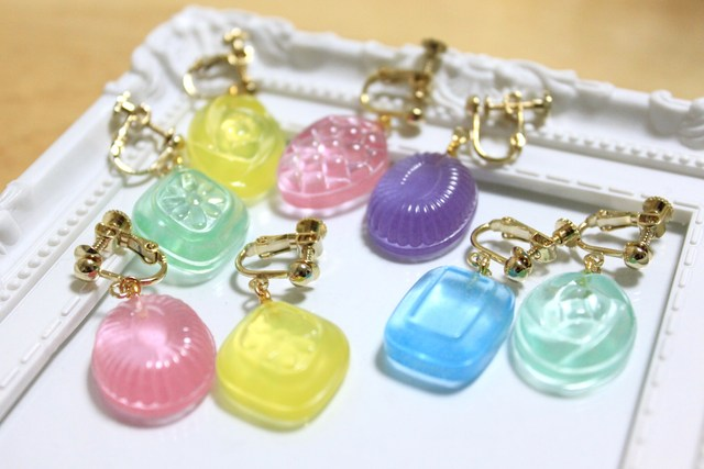 【sold out】つやつやドロップイヤリング