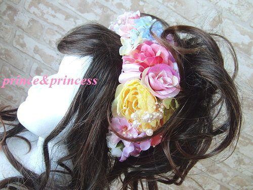 お花たっぷりカチューシャ*髪飾り*