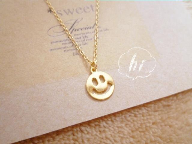 【人気シリーズ】smile?necklace*/18Kコーティング