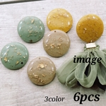 【cbtt3798chmm】【25㎜】【3color 6pct】 resin cabochon/charm