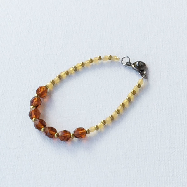 Autumn color Bracelet  Marron 秋色のブレスレット