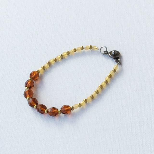 Autumn color Bracelet  Marron 秋色のブレスレット