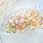 約束の花束バレッタ(hair ornaments of Spring flower  〜little promise〜).