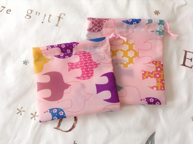 ナイロン 巾着袋 2枚組 No.2