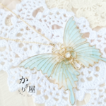 フローラルカラーの蝶ネックレス〜mint fragrance〜(Necklace of butterfly 〜mint fragrance〜)