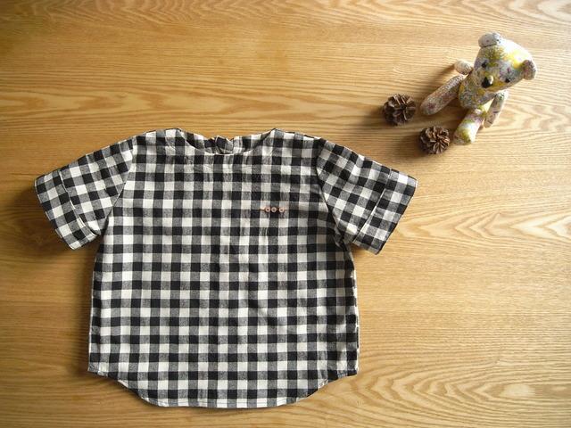 チェックのプルオーバーシャツ*90size