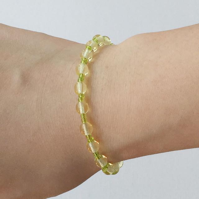Round bead bracelet  Yellow ラウンドビーズのブレスレット