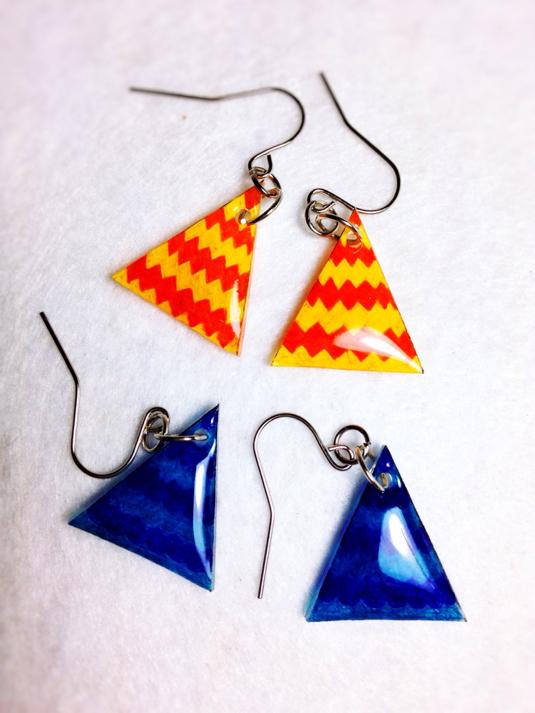 すべての折り紙 折り紙 小物 : 折り紙ピアス『かざぐるま ...