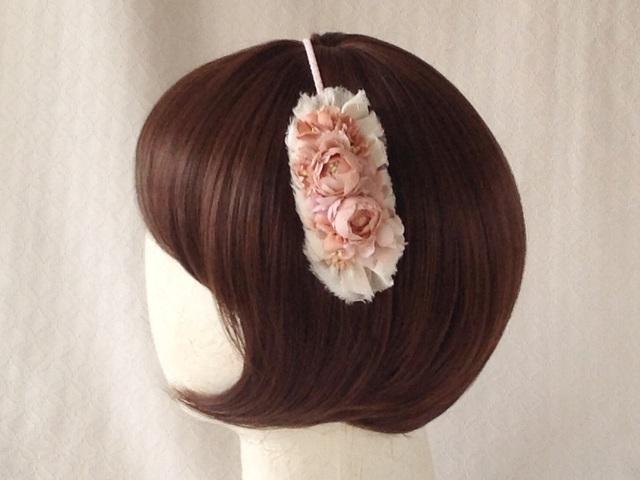 染め花のカチューシャ(ピンク)
