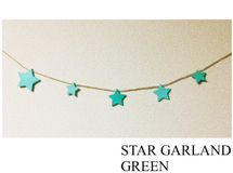 Pail Green ☆ STAR GARLAND 100cm