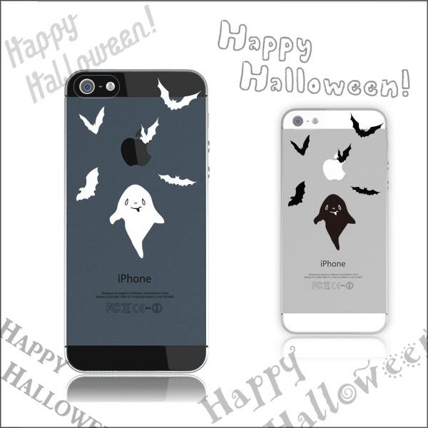 おばけとコウモリケース◆Halloween♪:iPhone7★iPhone各種選択可能♪iPhoneケース スマホケース