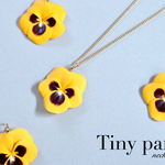 Tiny pansy ネックレス~yellow~
