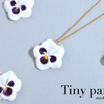 Tiny pansy ネックレス~white~