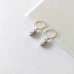 あこや真珠:twin pearl hook pierce