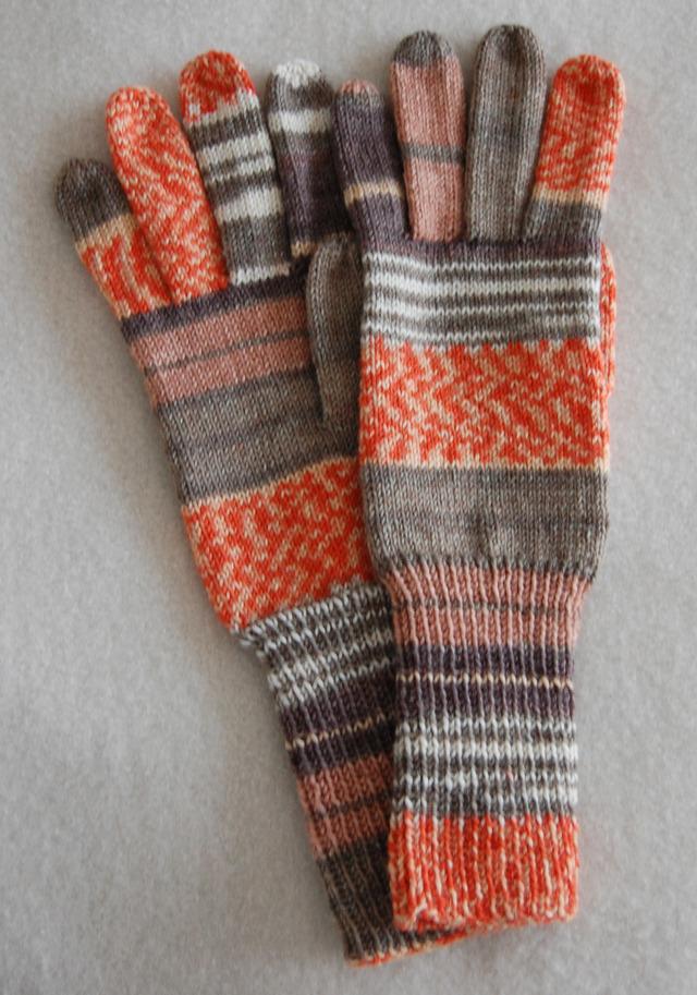 手編み5本指手袋 No.6【再販】