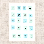 Heart -blue&green-