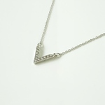 vneck necklace silvercolor