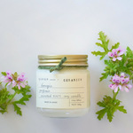 soy candle GERANIUM