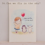36.Can we fly in the sky?/選べるポストカード