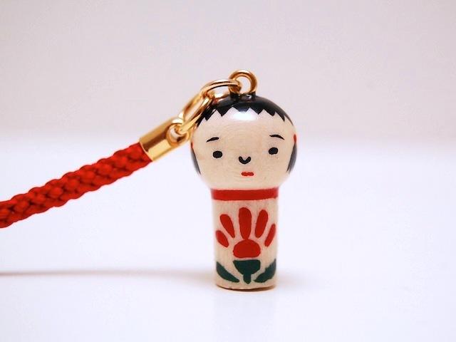 miniコケシ*なるこちゃん*ストラップ*[3]