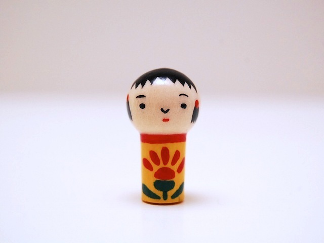 miniコケシ*なるこちゃん*黄色[2]