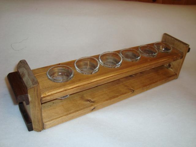 木製6連グラススタンド グラス付です。