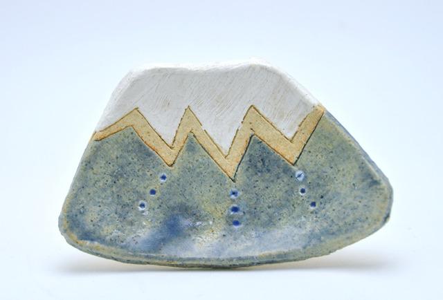 雪富士の小皿