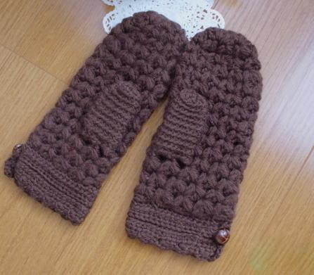 ☆七宝かぎ針編みのミトン防寒Finger Mittens