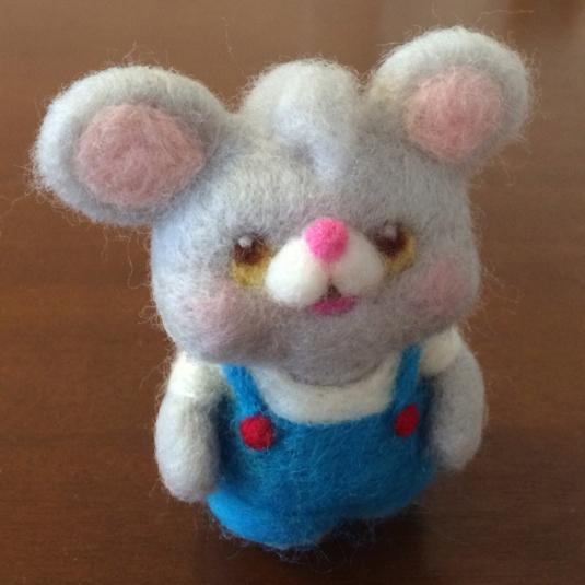 羊毛ネズミさん人形