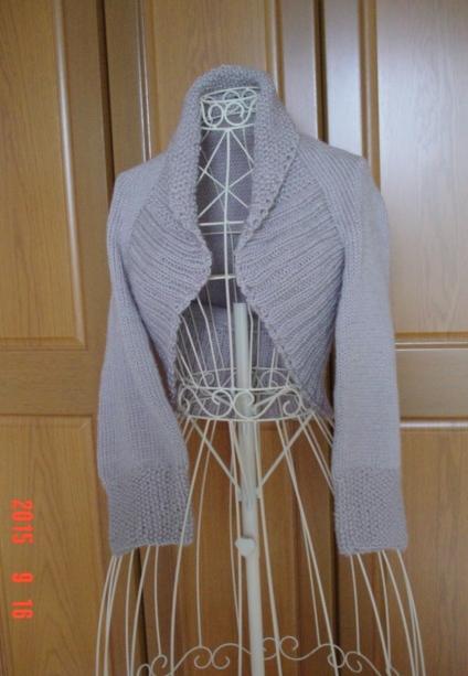 ☆彡おうちニットのざっくり幅広2目ゴム編みのマーガレット