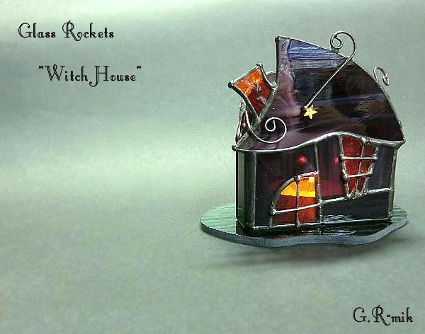 「ウィッチハウス 」キャンドル ランプ  ステンドグラス 再販