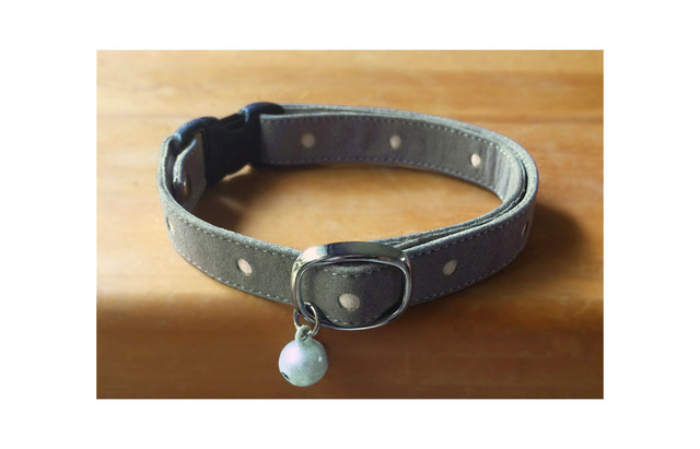 【再販】cat collar * gris dot