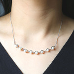 wave necklace with pearl