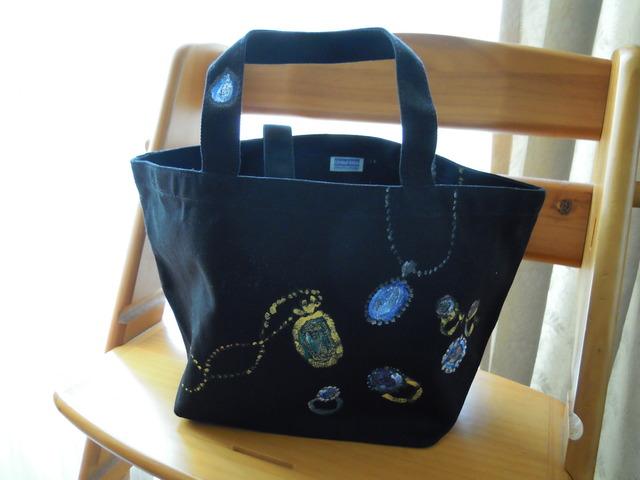 送料無料 手描きのバッグ 大人モードの宝石もよう?