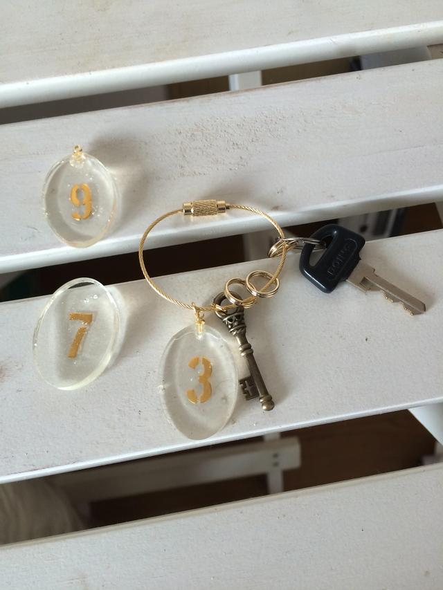 鍵束風キーホルダー (「3」「8」が売切れです)