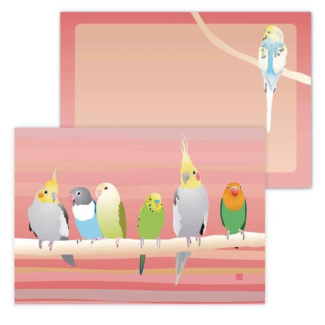 小鳥メモ帳  Pet Birds pink