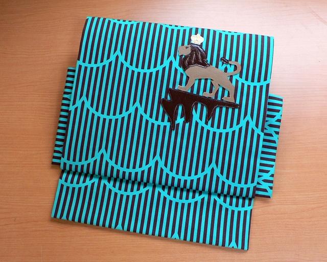 【sold out】ヒメノルミ&オーサカキモノコラボ作り帯 『キングof ライオン』シンバ帯