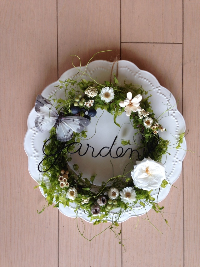 green garden wreath