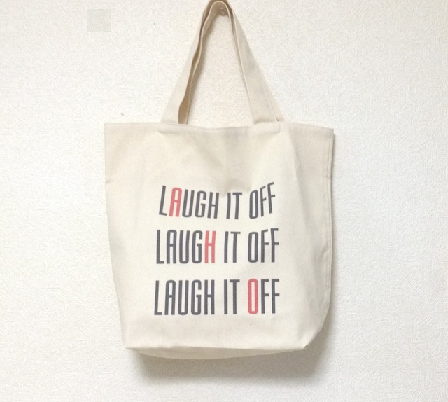 キャンバストートバッグ(大) Laugh it off
